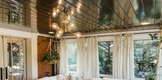 Salon z jadalnią w stylu prowansalskim